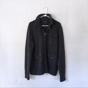 Banana Republic nautical wool cardigan sweater L
